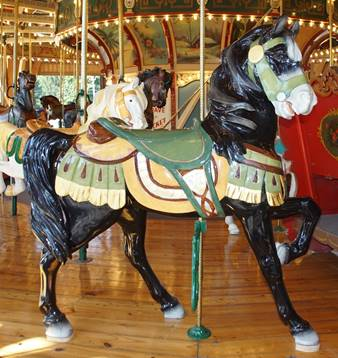 A person in a carousel