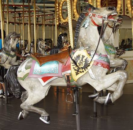 A picture containing floor, carousel, indoor, outdoor object