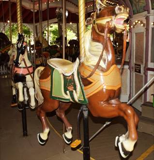 A picture containing carousel, object, ride, person  Description automatically generated