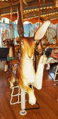 A picture containing indoor, floor, carousel, table  Description automatically generated