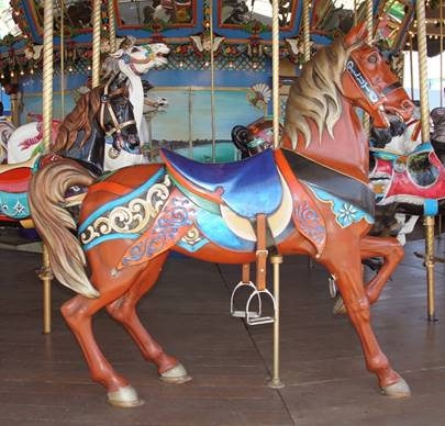 A carousel horse