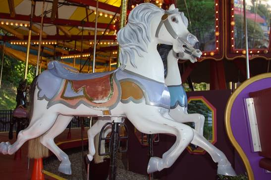 A statue of a carousel  Description automatically generated