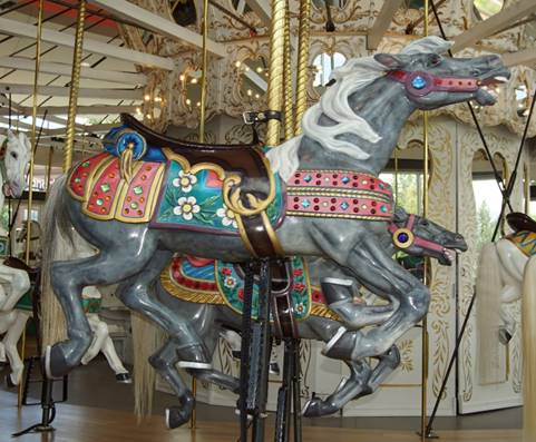 A picture containing indoor, floor, bicycle, carousel  Description automatically generated